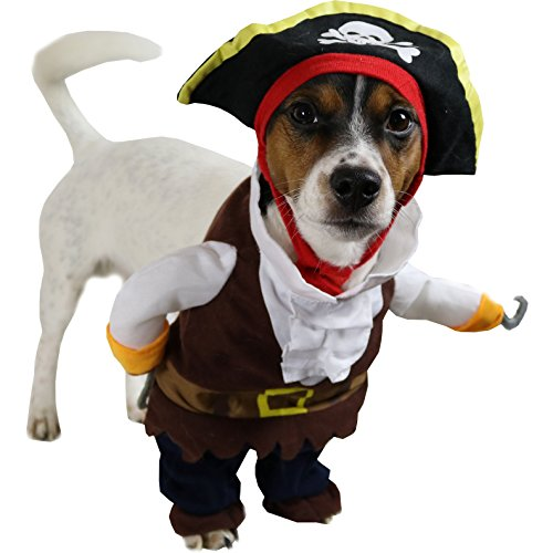 hundeinfo24.de Animally® Hunde Piraten Kostüm – Pirat Karneval (L)