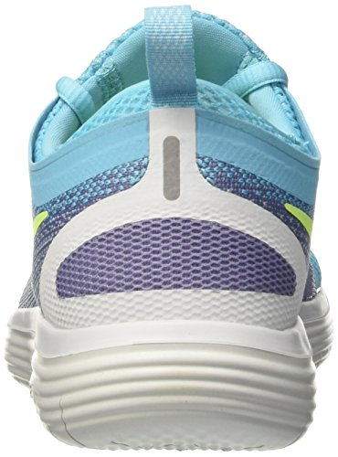 Nike Wmns Free Rn Distance 2, Scarpe Running Donna Blu (Polarized Blue/volt/iron Purple/purple Earth)