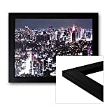 Bilderrahmen 50x70cm schwarz matt mit Glasscheibe, Rückwand und Aufhänger für Hoch- und Querformat - alle Standardgrößen - Fotorahmen, Galerierahmen, Wechselrahmen, Posterrahmen