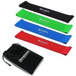 GIANCOMICS Set de 4 Piezas Bandas Elsticas para Yoga Ejercicio y Fitness Set de 4 Bandas Moldea Tu Cuerpo
