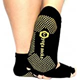 Malloom® 1Pair Exercise Half Toeless Ankle Dance None Slip Yoga Pilates Socks