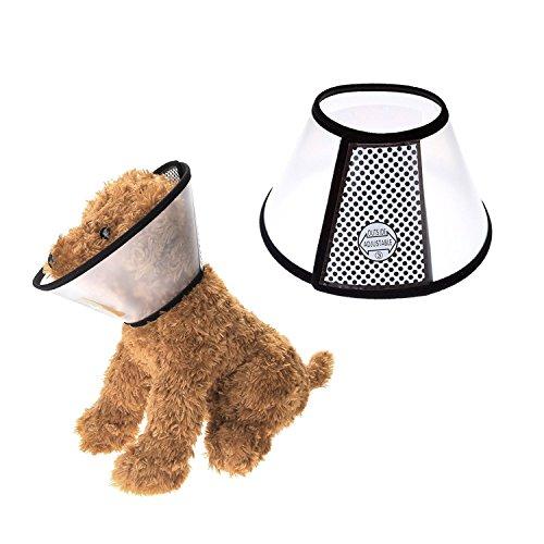 Mangostyle Collare Elisabettiano Collare Protettivo Forma Cono per Cane Gatto Ferita Recupero Guarigione E-collare anti morso o leccata - Taglia 1