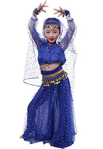 Mädchen Kinder Tanzkleid Girl Elegante Bauchtanz-Kostüm-Set