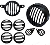 #4: AllExtreme Heavy Weight Metal Headlight Grill Complete , Die casted to ensure Ultra Finishing, Set of 8 Pieces- Royal Enfield Classic 350/ 500