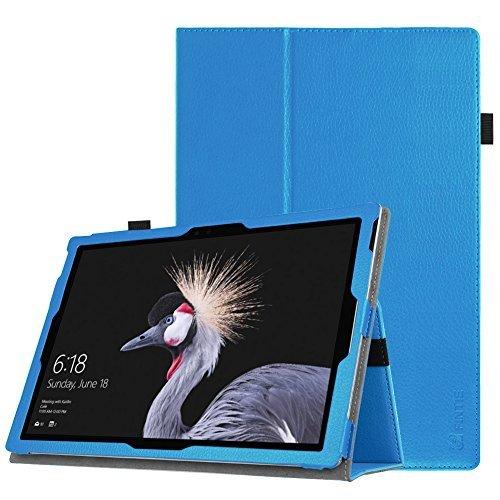 Fintie Microsoft Surface Pro 6 Hülle - Slim Fit Kunstleder Stand Schutzhülle Cover mit Stylus-Halterung für New Surface Pro 6 / Pro 2017 / Pro 4 / Pro 3 (12,3 Zoll) Tablet-PC, Blau