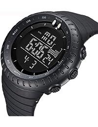 Sannysis Multifunción Deportes Relojes de pulsera digitales Retroiluminación LED color negro