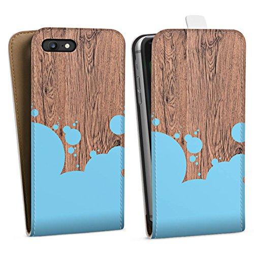 Apple iPhone X Silikon Hülle Case Schutzhülle Holz Kleckse Farbe Downflip Tasche weiß