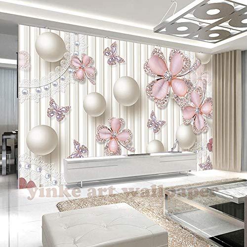 3D Fototapete Luxus 3D Juwel Kreis Weiße Kugel Großes Wandbild Wohnzimmer Schlafzimmer Tv Hintergrund Wandmalerei Tapete 250 * 175Cm