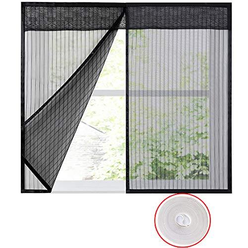 Finestra schermi fotogramma intero zanzariera magnetica per porte,zanzariera magnetica magnetic insect door screen sipario per porte rete super fine -140x150cm(55x59pollice)-c
