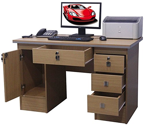 Computer Desk Office Desk PC Table Home Study Office Furniture Corner Desk, Model K06 (Beech Desk 617/110)