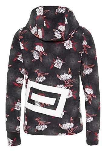 Chiemsee Damen PlusMinus-Design Fleecejacke, Black/Red AOP, L (Adidas Aop Jacke)