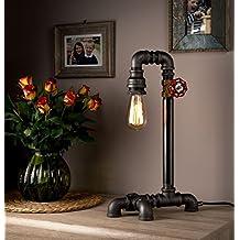 Lámparas para Hogar, Pequeñas Lámparas de Mesa con Luces de Caño Industrial para una Gran Mejorara de la Casa - LUXMA