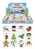 48 x Christmas Childrens Temporary Tattoos (4 packs of 12)