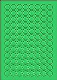 480 Etiketten Farbetiketten selbstklebend rund 20 mm GRÜN permanent klebend