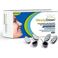 WoodyKnows 3 en 1 Filtros Nasales para Aliviar las Alergias, Combinar Ultra Respirable, Súper Defensa y Pantalla Nasal Reductora de Gases y Contaminantes(3 marcos de filtro, 6 pares de filtros) (III-S(Large slotted nostril))