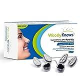 WoodyKnows 3 in 1 Anti Allergie Nasenfilter kombiniert Ultra-Atmungsaktiv, Super Defense und Gas- und Schmutzreduzierung in einem zur Linderung von Pollen und Stauballergien (Längliche Nasenlöcher, III-S)