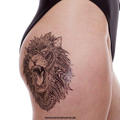 örpertattoo - Lion Tattoo - Einmal Tattoo HB 496 (1) (Lion Tattoo)