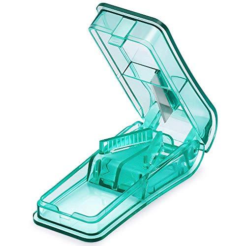 Tablettenteiler, BUG HULL Tablettenschneider Pillenschneider für kleine und große Tabletten Pillente (Grün)