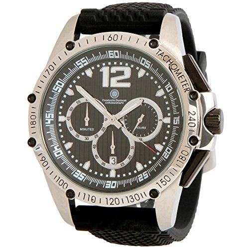 Constantin Durmont Men's Watch Tribute Chronograph Quartz Rubber CD Trib QZ/RB/Stst/Bk