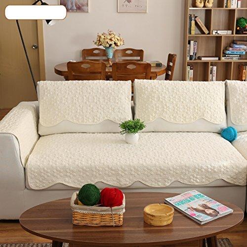 DW&HX Reine farbe Sofa möbel protector für hund,100 % baumwolle Sofabezug Volltonfarbe Verdicken sie Sofa werfen abdeckungen Anti-rutsch Gesteppter Spitze -D 35x63inch(90x160cm)