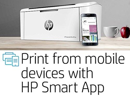 HP LaserJet Pro M15w SHNGC-1700-01 - Impresora láser (USB 2.0, WiFi, 18 ppm, memoria de 8 MB, Wi-Fi Direct y aplicación HP Smart)