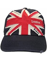 Mens Union Jack London England Embroidered Baseball Cap