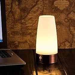 The Glowhouse Wireless PIR Motion Sensor LED Night Light Battery Powered Table Lamp (Round)