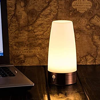 Round battery motion sensor led table lamp
