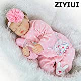 ZIYIUI Reborn Doll 55 cm 22 inch Soft Silicone Vinyl Reborn Baby Doll Girl Looks Like Really Sleeping Newborn Reborn Dolls and Clothes Lifelike Toddler Birthday Xmas Gifts