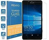 PREMYO Verre Trempé Film Protection Écran Compatible avec Microsoft Lumia 950 Dureté 9H Bords 2,5D Anti-Rayures sans Bulles Résistant