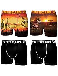 Freegun Boxer, Shorty Homme (lot de 4)