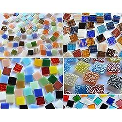 Bazare Masud Lot de 500 tesselles en Verre Mosaïque Multicolore 15 x 15 mm env. 760 g comme Cadeau De Noël