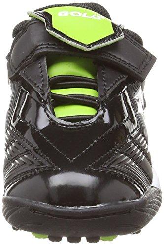 Gola Net Velcro, Multisports outdoor Garçon Noir (Black/Lime)