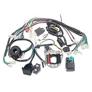 LouiseEvel215 Elektrik Statorspule CDI Kabelbaum für 4-Takt ATV KLX 50ccm 70ccm 110ccm 125ccm Quad Buggy Go Kart Pit Dirt Bikes