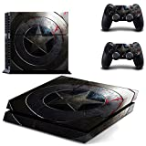 Captain Body Skin Sticker pegatinas Decal for Playstation 4 PS4 Console+Controller #0004