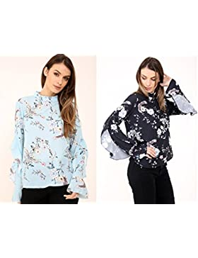 Gems - Camisas - Floral - Cuello redondo - para mujer