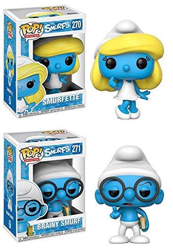 Funko POP The Smurfs Smurfette Brainy Smurf Stylized Vinyl Figure Set NEW