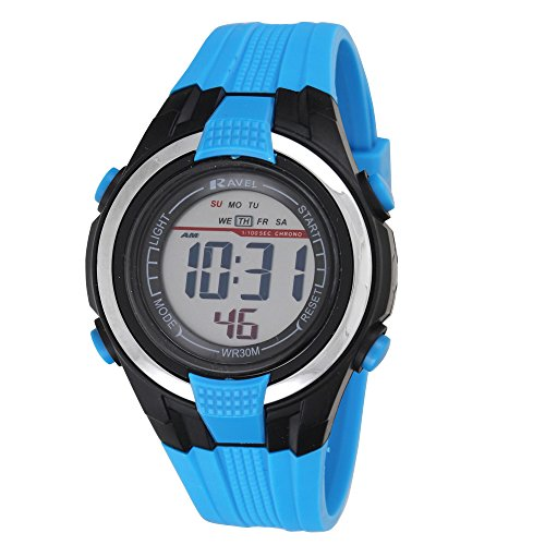 Ravel-LCD-Digital-Water-Resistant-Sports-Boys-Digital-Watch-with-Black-Dial-Digital-Display-and-Blue-Plastic-Strap-RDB-16
