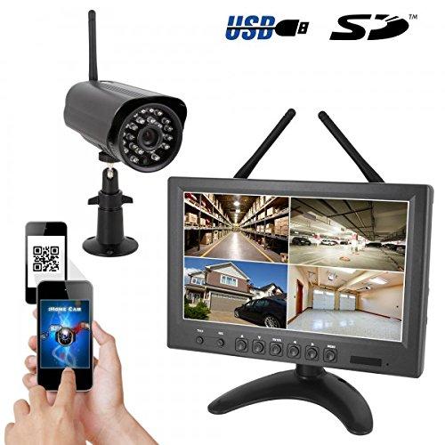 HaWoTEC-HD-IP-digital-Tiempo-real-Sistema-de-vigilancia-inalmbrico-9-Monitor-1-radio-de-cmara-Smartphone-aplicacin