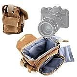 DURAGADGET Bolso/Canvas para Cámaras Pentax KP   Polaroid iE126   OneStep 600   OneStep SX-70 - Marrón