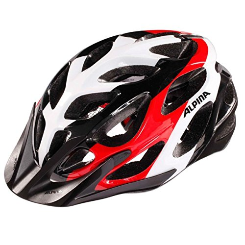 Alpina A9672131 Radhelm MYTHOS 2.0 Fahrradhelm Bike-helm (BLACK-WHITE-RED, 52-57)