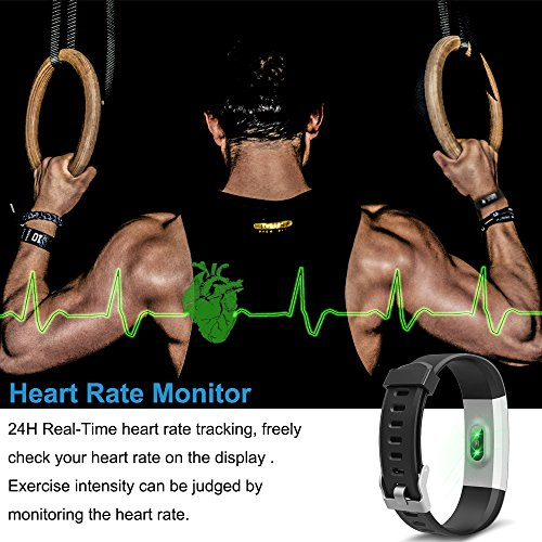 Semaco S01Plus Fitness Tracker Heart Rate Monitor Wireless Smart Bracelet Waterproof Activity Tracker With Pedometer Sleep Monitor Bluetooth Smartwatch For Android And IOS Smartphones