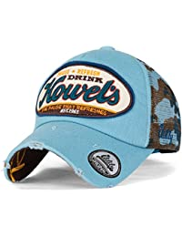 ililily Howel's Camouflage Baseball Mesh Cap Distressed Vintage Trucker Hat