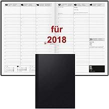 Brunnen Buchkalender 2018 A4 1Wo=2Sei Hardcover schwarz 10-78160 Kalender 2018