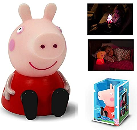 Peppa Pig Colour Changing Illumi-Mate Childrens Kids Bedroom Night Light