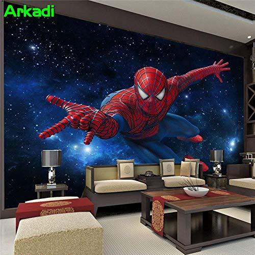 NXMRN 3D stéréoscopique TV fond d'écran salon chambre chambre murale bar KTV boîte à thème chambre Spiderman murale chambre d'enfants,150X100CM