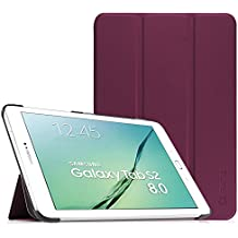 Fintie Samsung Galaxy Tab S2 8.0 Funda - Slim Fit Smart Funda Carcasa con Stand Función y Imán Incorporado para el Sueño/Estela para Samsung Galaxy Tab S2 8.0 pulgadas (Purpura)