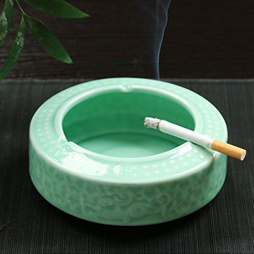 Alle Aluminium-wohnzimmer Tisch (Znzbzt Keramik kreative Persönlichkeit grosses Wohnzimmer Tisch Aschenbecher cute trendy alle - Porzellan Aschenbecher, dreidimensionale große Rauch Zylinder)