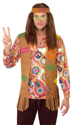 SMIFFYS Smiffy's Hippy Costume da uomo