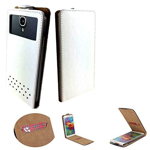 Handy Schutz Hülle | für HP Elite x3| Slim Flipstyle mit Magnetverschluss | PU Leder | - Flip Nano XL Weiß